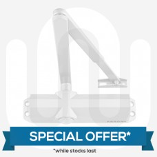 SPECIAL OFFER! 2x Overhead Surface Mount Door Closers - White